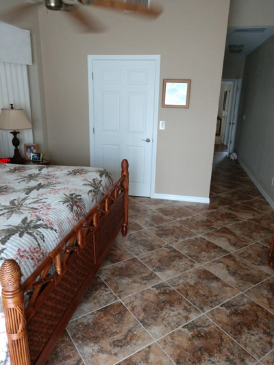 master suite tile floor on diagonal