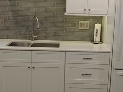 Cambria countertops & Custom Backsplash