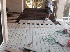 Removal of Faulty/aged Trex Decking