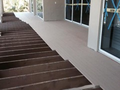 Installation of Azek Tongue and Groove Porch Decking